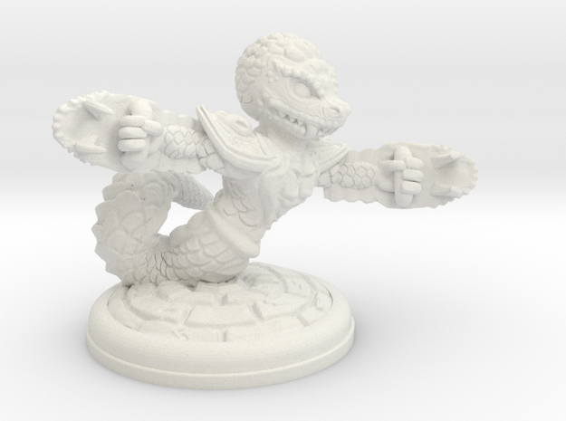 Naga with Claws  28mm in White Natural Versatile Plastic