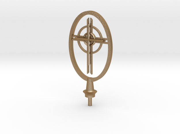 St Francis Cathedral Cross   in Matte Gold Steel