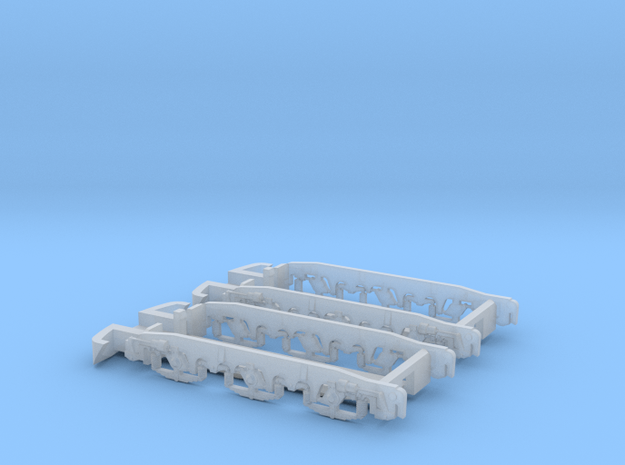 1:160 ET22 Trolley covers  in Smooth Fine Detail Plastic