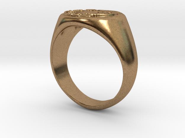 Size 7 Targaryen Ring in Natural Brass: 6 / 51.5
