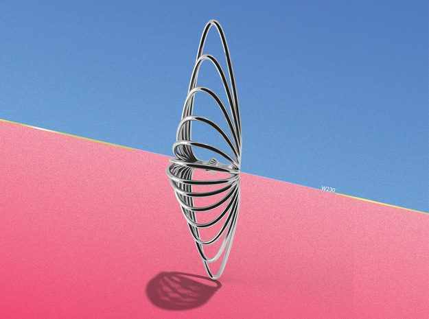 Shea | pendant  in Polished Silver