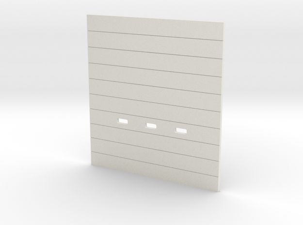 '1-50 Scale' -  OH-Door 12cm x 13cm in White Natural Versatile Plastic