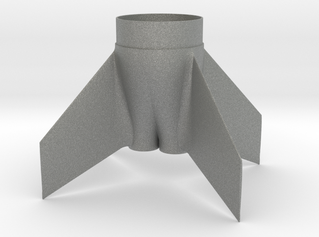 Fin unit  BT60 twin cluster for 13mm motors in Gray PA12