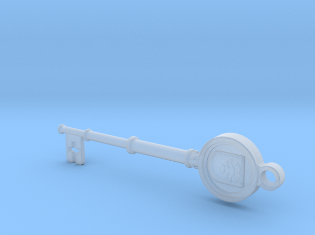 Resident Evil Remake Shield Key in Smooth Fine Detail Plastic