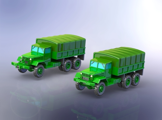 M125 & M125A1 Heavy Trucks 1/160 in Smooth Fine Detail Plastic
