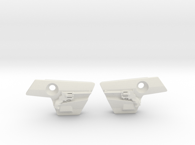 Revolver Covers in White Natural Versatile Plastic