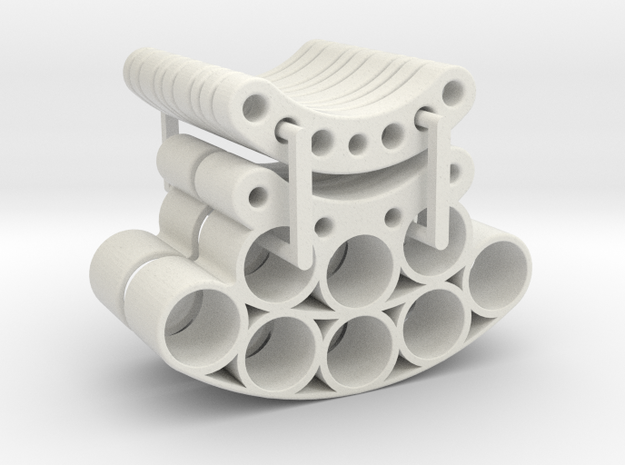 OD85-Tungsten PINEWOOD support -V7  + Spacers   in White Natural Versatile Plastic
