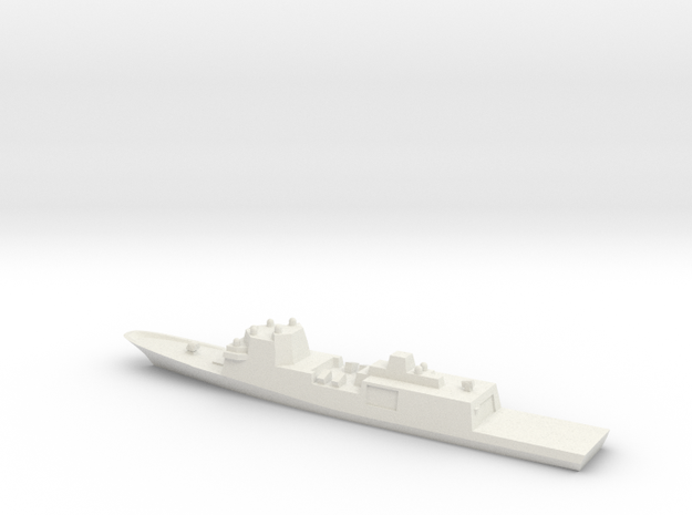 Fincantieri FFG(X) Wargaming in White Natural Versatile Plastic: 1:1800