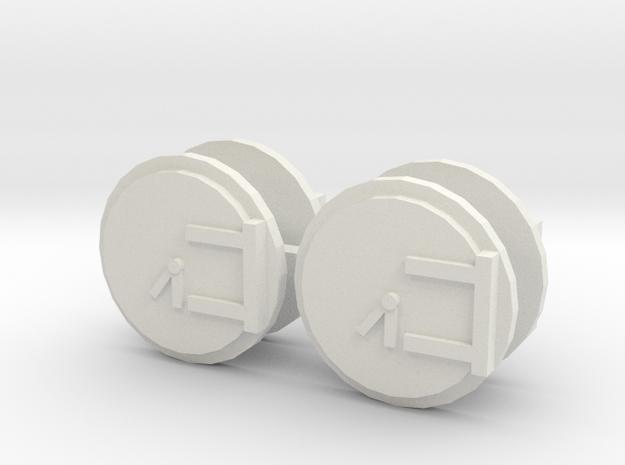 Smokebox Door 12mm (ERTL, WR, etc.) in White Natural Versatile Plastic
