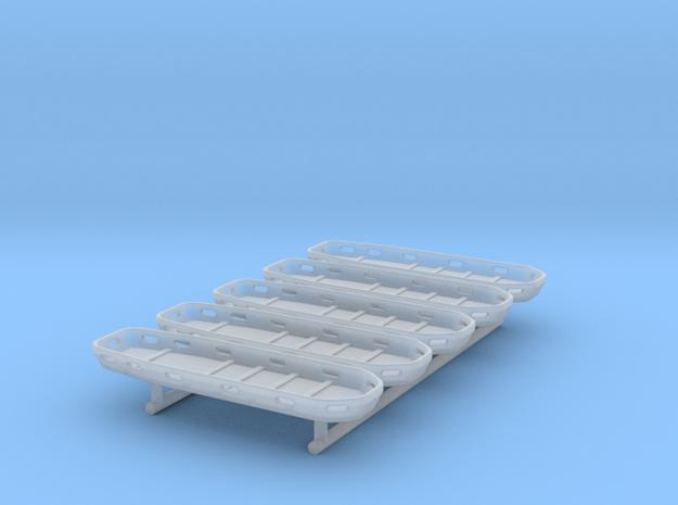 Schleifkorbtrage - 5 Stück 1/87 in Smoothest Fine Detail Plastic