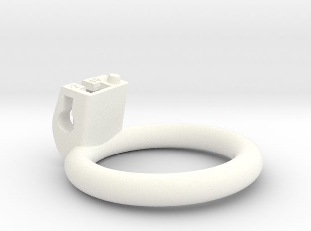 Cherry Keeper Ring - 40mm Flat -2° in White Processed Versatile Plastic
