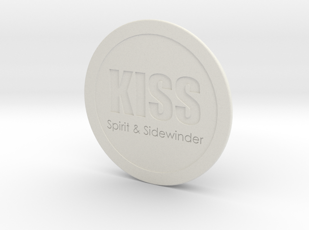 Scrubber Lid for KISS Spirit and Sidewinder Rebrea in White Natural Versatile Plastic