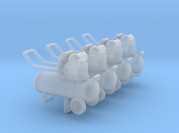 Air Compressor 01. 1:48 Scale (O) in Smooth Fine Detail Plastic