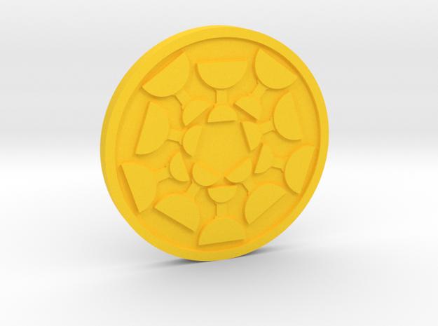 Ten of Cups Coin in Yellow Processed Versatile Plastic