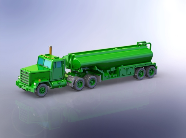 M915 Tractor w. M969 Tanktrailer 1/144 in Smooth Fine Detail Plastic