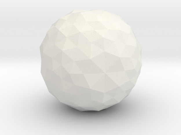 lawal f408 star polyhedron in White Natural Versatile Plastic