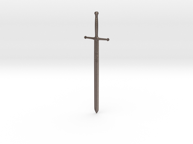Letter Opener - Eddard Sword (got) in Polished Bronzed Silver Steel
