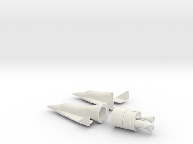 1/72 BOEING X-20 DYNA SOAR SPACE PLANE in White Natural Versatile Plastic