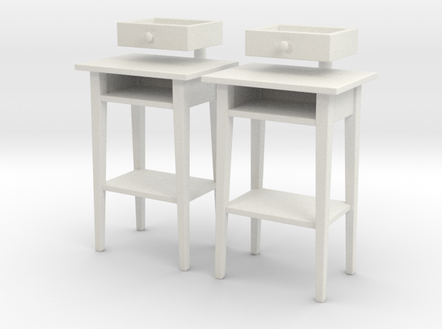 Side Table 01.1:24 Scale in White Natural Versatile Plastic