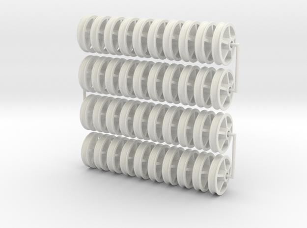 16MN01x40 5 Spoke Maenofferen Wheels (SM32) in White Natural Versatile Plastic