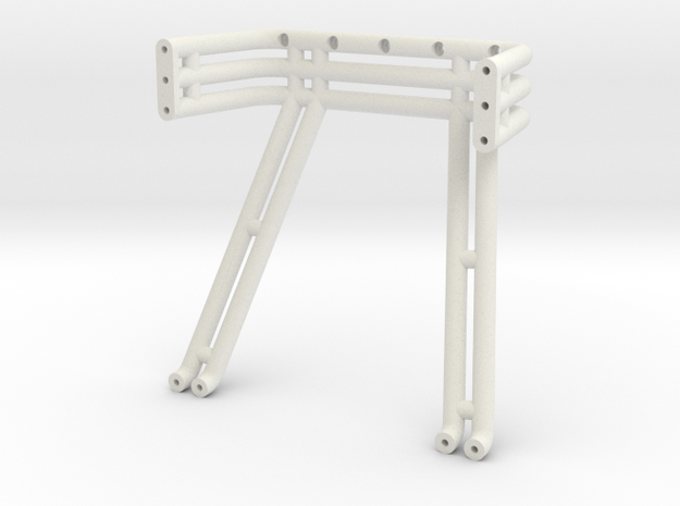 JConcepts, triple - double roll-bar fits #0415 197 in White Natural Versatile Plastic