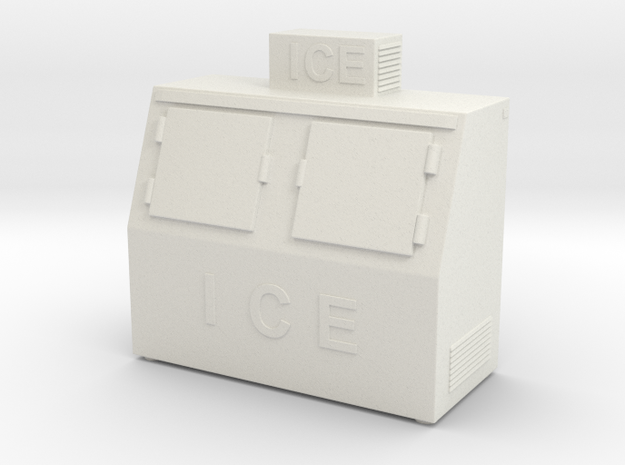 Ice Machine 01. 1:64 Scale (S) in White Natural Versatile Plastic