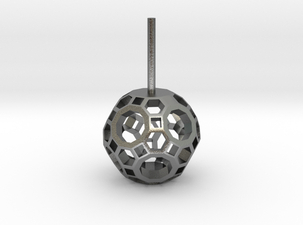 Lawal 14mm v2 Skeletal Truncated Icosidodecahedron in Natural Silver