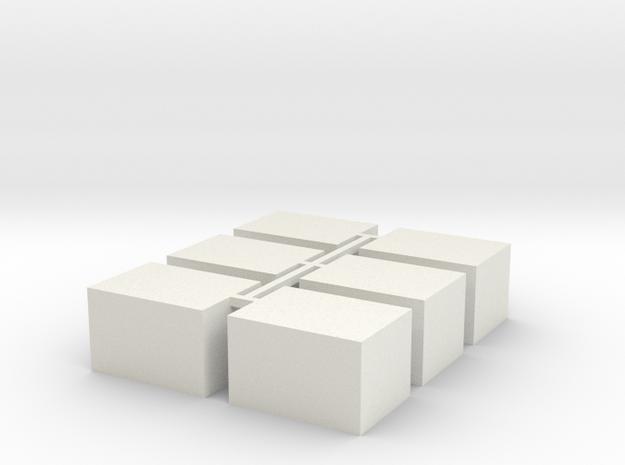 11mm x 15mm x 9.5mm Enclosure Fret in White Natural Versatile Plastic