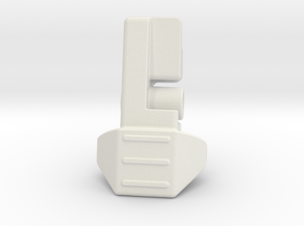 MG100 Mini Mag Tab in White Natural Versatile Plastic