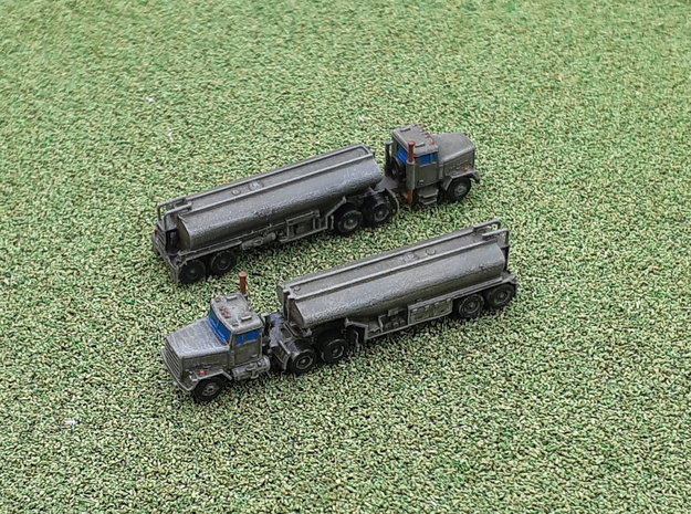 M915 Tractor w. M969 Tanktrailer 1/285 in Smooth Fine Detail Plastic