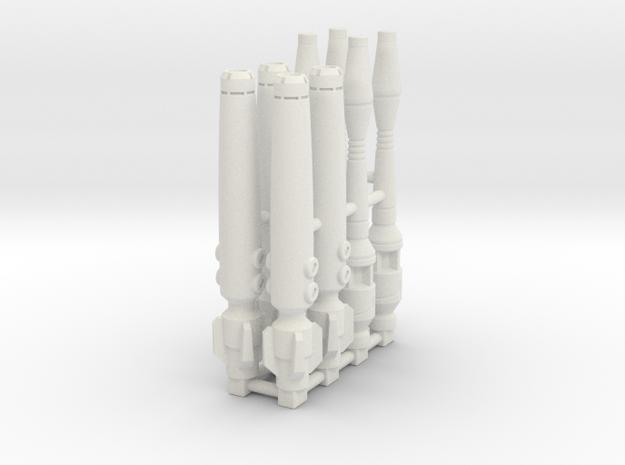 Seeker Weapons - Barrels set of 4 in White Natural Versatile Plastic