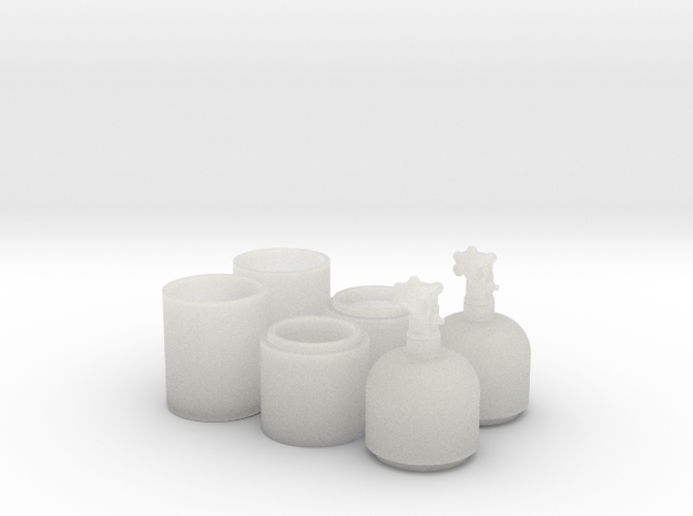 1/24 One Pair of Nitrous Bottles with Valves