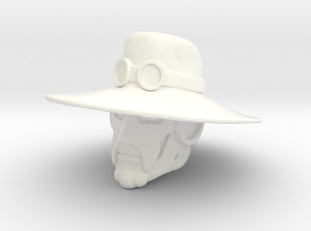 Slavemaster Head in White Processed Versatile Plastic