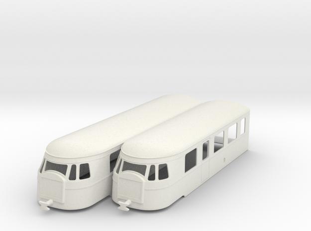 bl32-billard-a150d2-artic-railcar in White Natural Versatile Plastic