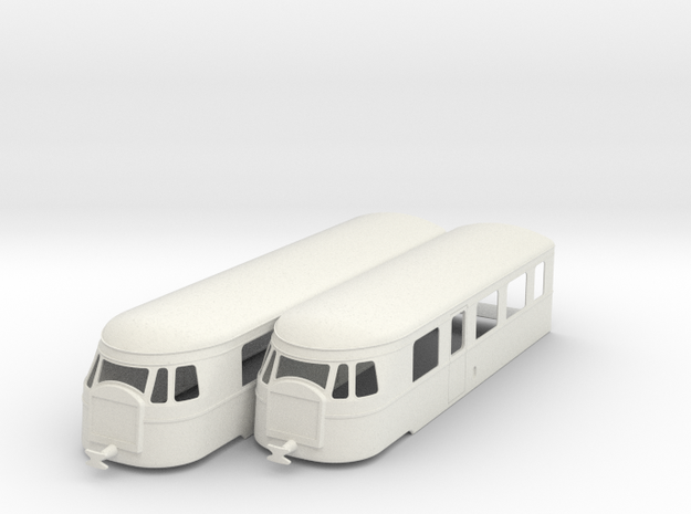 bl22-5-billard-a150d2-artic-railcar in White Natural Versatile Plastic