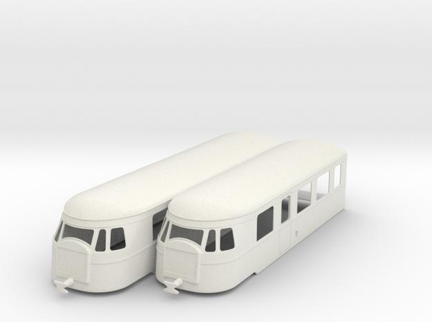 bl19-billard-a150d2-artic-railcar in White Natural Versatile Plastic