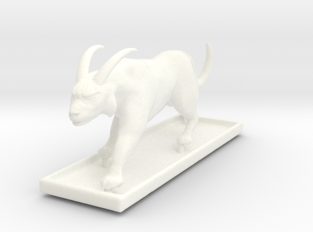 Grimalkin Statue (with base) in White Processed Versatile Plastic