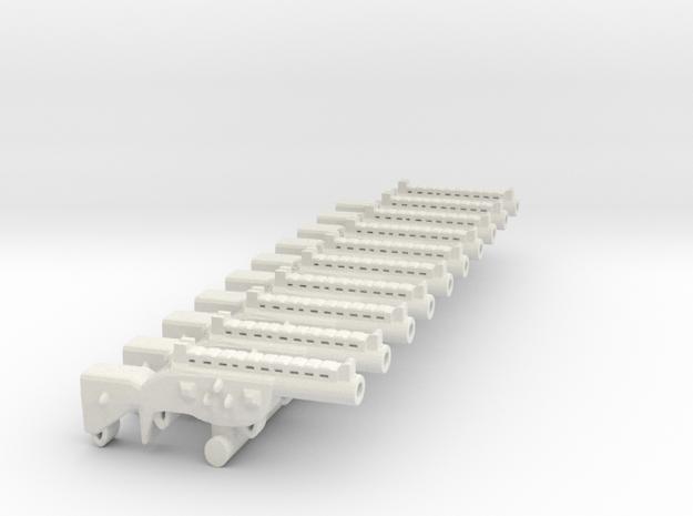 Shotgun SET in White Natural Versatile Plastic
