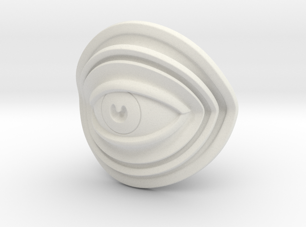 Eye Mini in White Natural Versatile Plastic