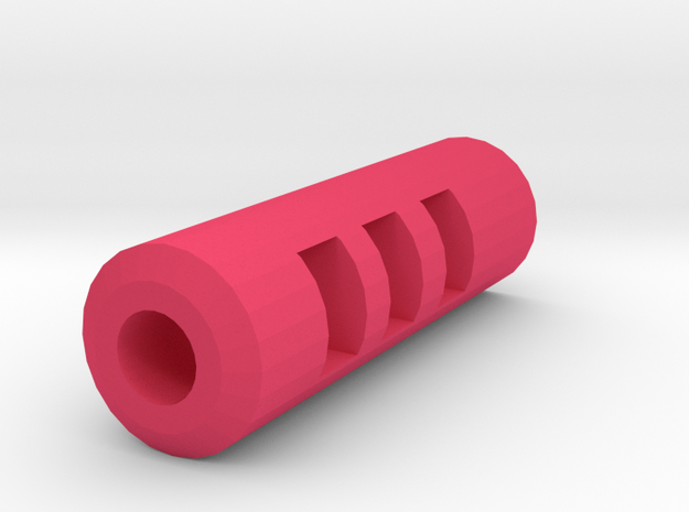 M93R Muzzle Flashhider (14mm Self-Cutting) in Pink Processed Versatile Plastic