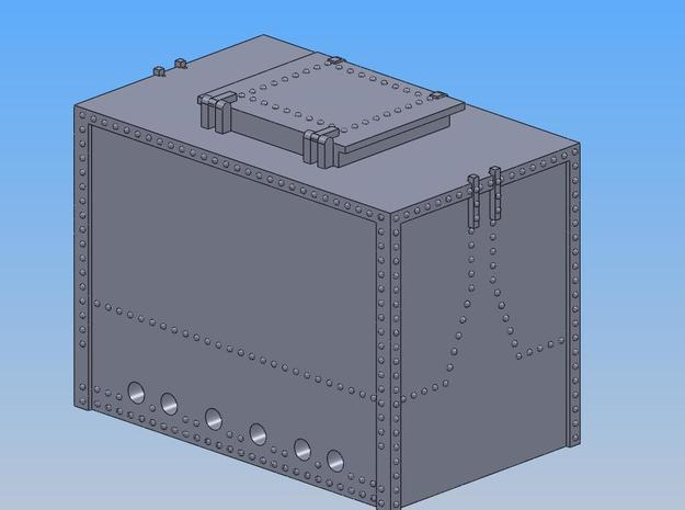 PRR DB4A Container S Scale in Smooth Fine Detail Plastic