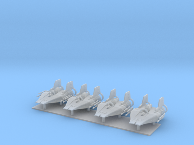 1/350 A-Wing Four Pack in Smooth Fine Detail Plastic