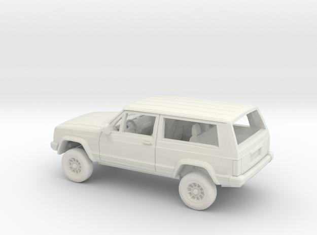 1/72 1984-96 4Wheel Drive SUV 2 Door Kit in White Natural Versatile Plastic