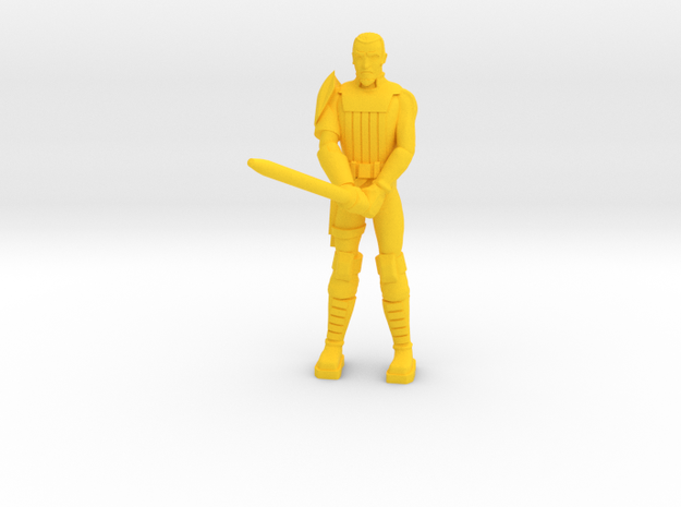 Kanny Doom with Light Sword in Yellow Processed Versatile Plastic