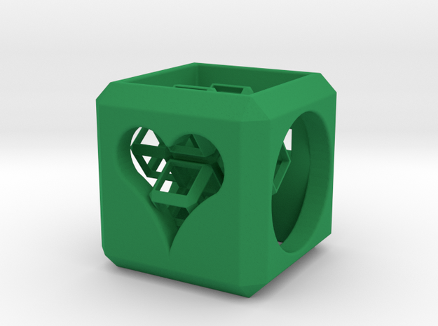 SCULPTURE Cross inside a Cube (25 mm) 3d printed