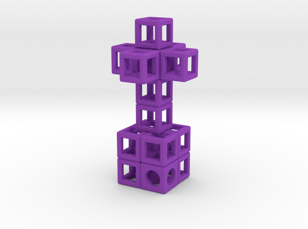 JEWELRY Pendant: Cross with Cube-Base (48 x 24mm) 3d printed