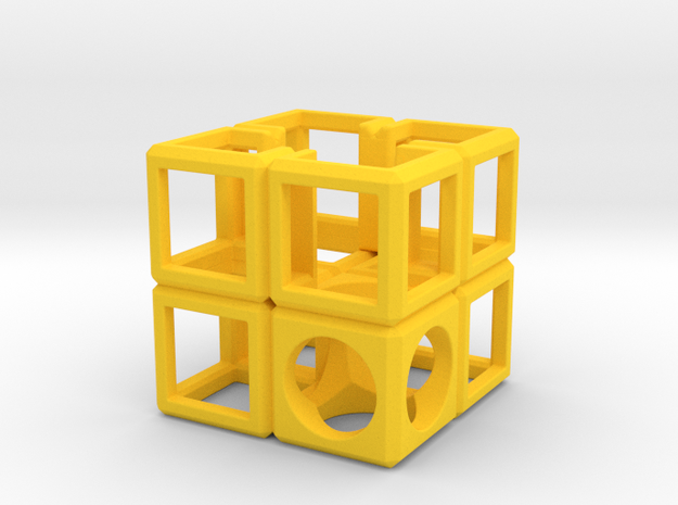 SCULPTURE Cube-Base for 48mm 3d-Cross 3d printed