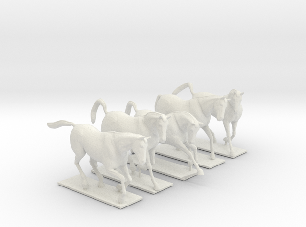 Horses for 28mm miniature