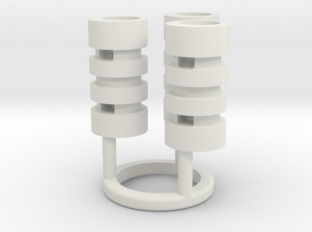 Graflex GMM Chassis - Part05 - Capacitors 2 in White Natural Versatile Plastic
