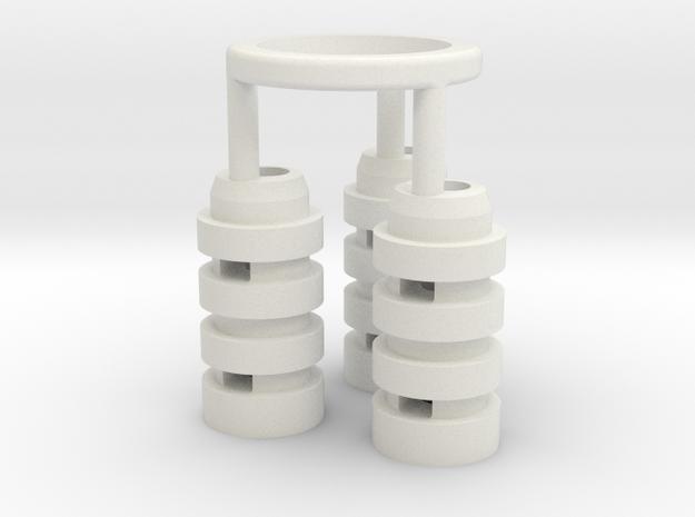 Graflex GMM Chassis - Part04 - Capacitors 1 in White Natural Versatile Plastic